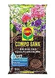 Compo SANA Balkon- und Kübelpflanzenerde mit 12 Wochen Dünger für alle Balkon- und Terrassenpflanzen, Kultursubstrat, 50 Liter, braun