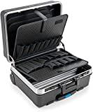 B&W Werkzeugkoffer GO mobil mit Werkzeugeinsteckfächern (Koffer aus ABS, Volumen 36l, 48 x 37,5 x 20 cm innen) 120.04/P , ohne Werkzeug