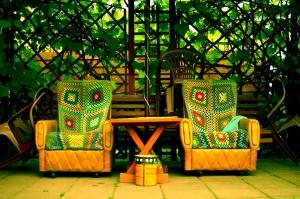 Bau einer Gartenterrasse