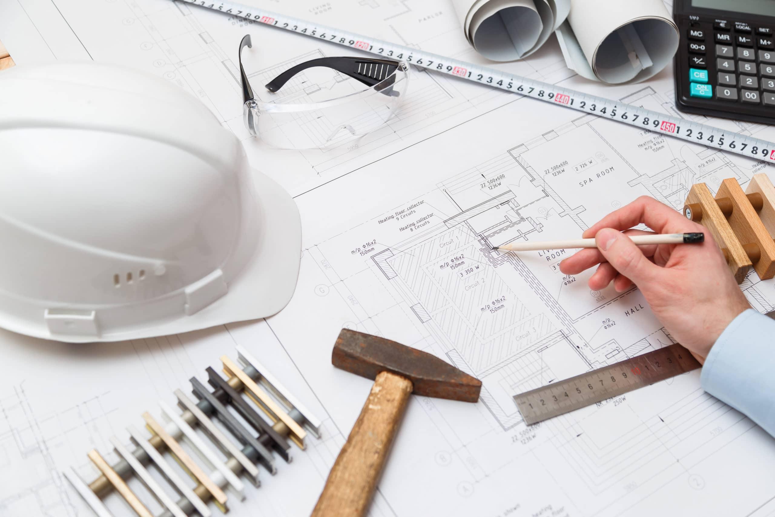 Bauantrag und spätere Baugenehmigung gehen Hand in Hand.